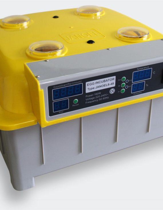 Plně automatický Inkubátor líheň na 48 vajec plný