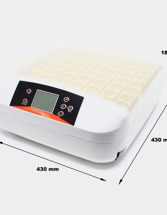 Plně automatický Inkubátor líheň na 56 vajec s s integrovanou LED prosvětlovačkou vajec